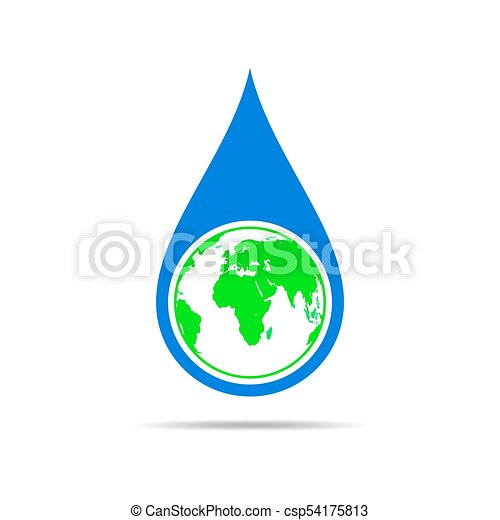 Water drop with a world map vector illustration water drop with a water drop with a world map vector illustration gumiabroncs Gallery