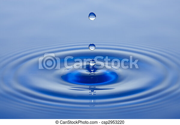 Water droplet - csp2953220