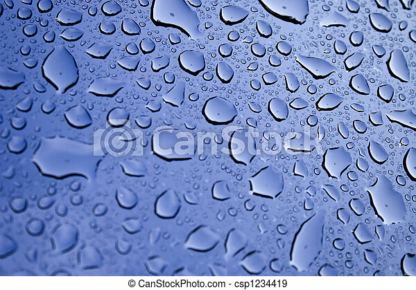 Water Droplets - csp1234419