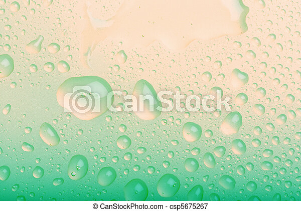 water drops on blue background - csp5675267
