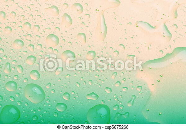 water drops on blue background - csp5675266