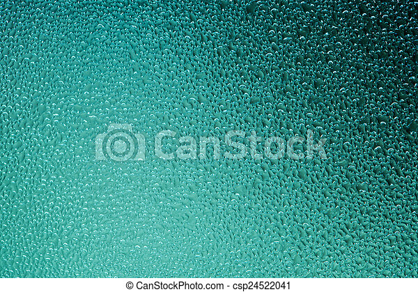 Water drops on blue background - csp24522041