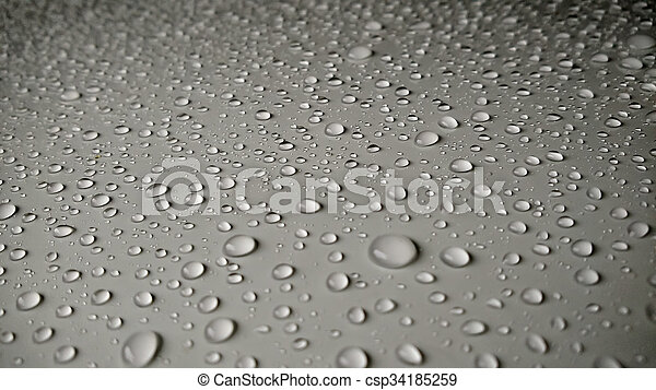 Water Drops On Car background - csp34185259