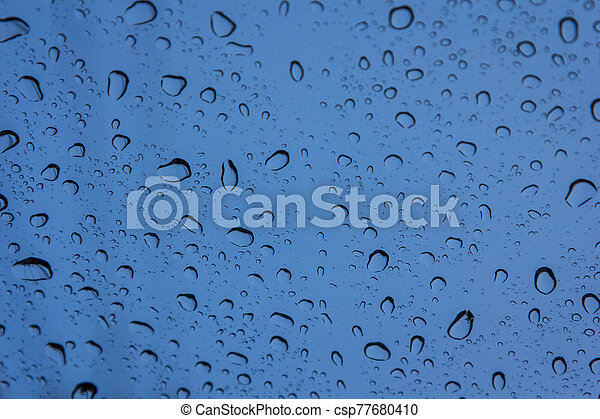 Water drops on glass - csp77680410