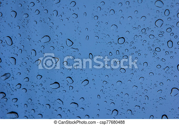 Water drops on glass - csp77680488