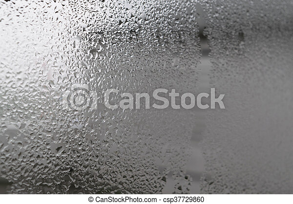 Water drops on glass - csp37729860