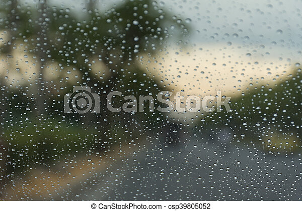 Water drops on glass - csp39805052