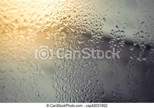 Water drops on glass - csp42031852