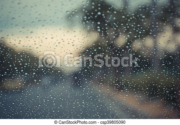 Water drops on glass - csp39805090