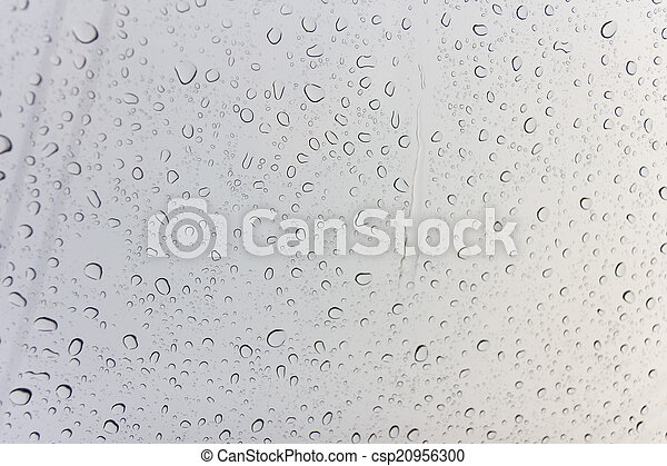 Water drops on glass - csp20956300