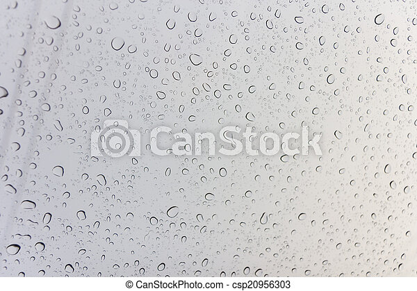 Water drops on glass - csp20956303