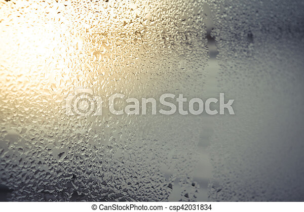 Water drops on glass - csp42031834