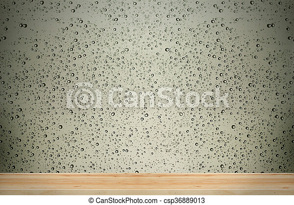 Water drops on window glass background. - csp36889013