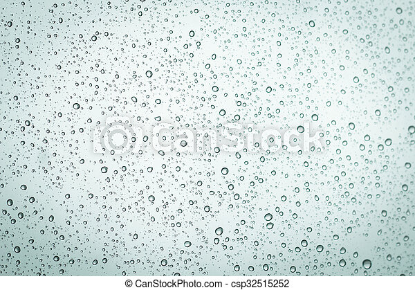 Water drops on window glass background. - csp32515252