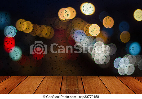 Water drops on window glass background. - csp33779158