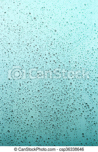 Water drops on window glass background. - csp36338646
