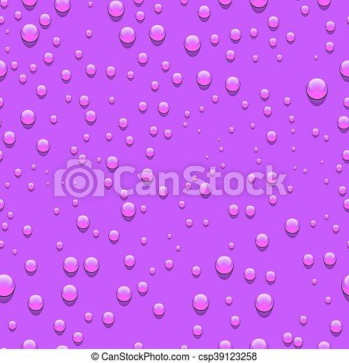 Water drops seamless pattern. - csp39123258