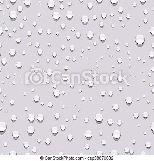 Water drops seamless pattern - csp38670632