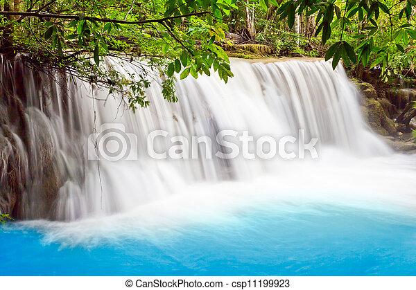 water fall , hua mae kamin level 2 kanchanaburi thailand - csp11199923