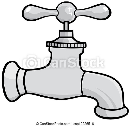 Illustration of water faucet vector clip art - Search Illustration ...