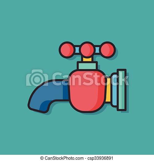 Water faucet vector icon eps vectors - Search Clip Art, Illustration ...