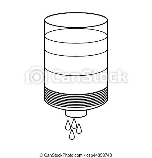 Water Filter Cartridge Icon In Outline Style Isolated On Stock