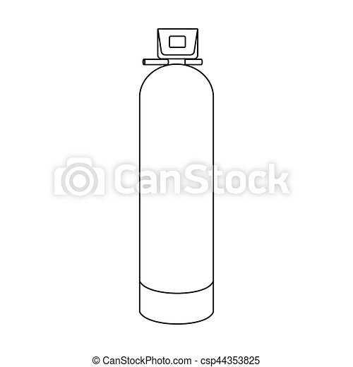 Water Filter Machine Icon In Outline Style Isolated On White Clip