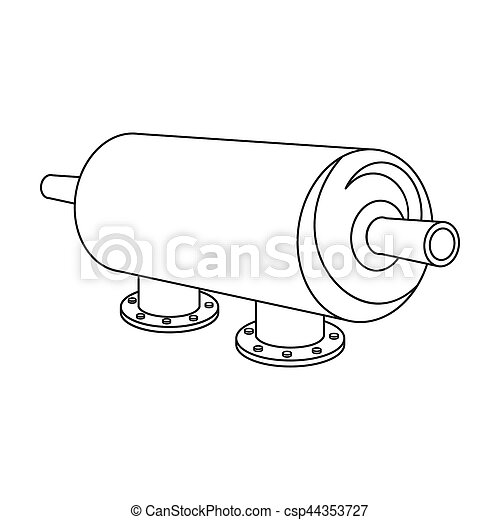 Water Filter Machine Icon In Outline Style Isolated On White