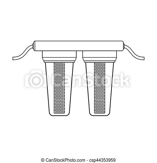 Water Filters Icon In Outline Style Isolated On White Stock