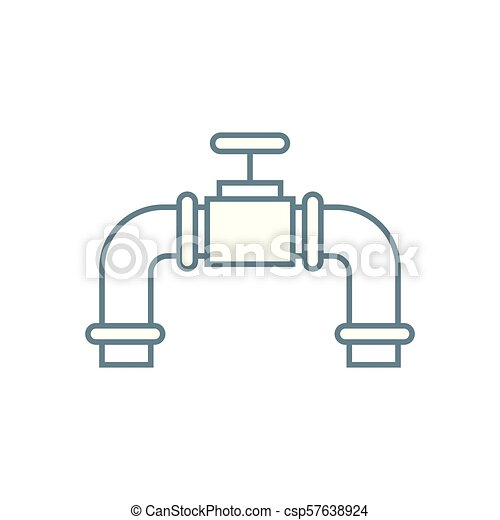 Water Flow Control Linear Icon Concept Water Flow Control Vector