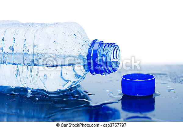 Water flows from a bottle  - csp3757797