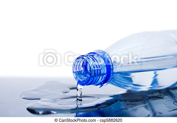 Water flows from a bottle - csp5882620
