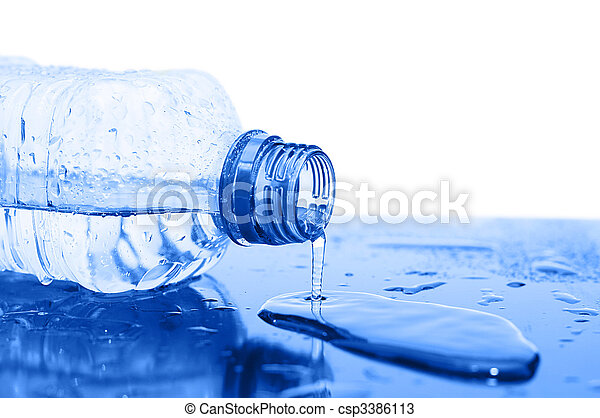 Water flows from a bottle - csp3386113