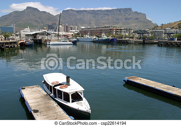 Water Front and table mountain in Cape Town - csp22614194