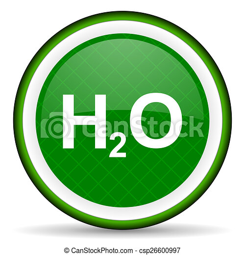 water green icon h2o sign - csp26600997