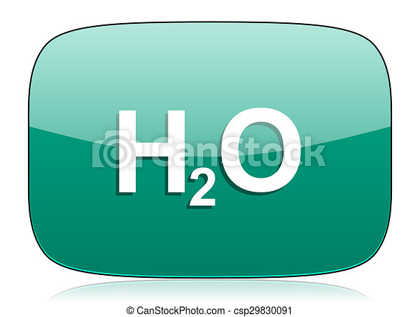 water green icon h2o sign - csp29830091