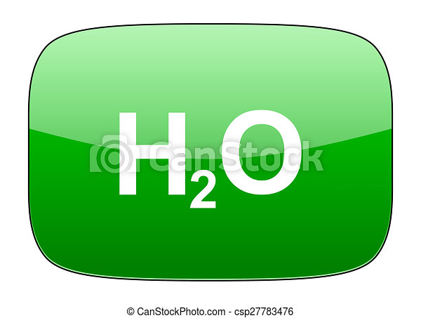 water green icon h2o sign - csp27783476