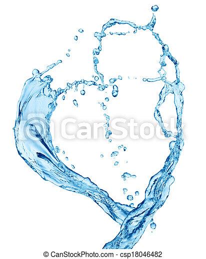Water heart - csp18046482