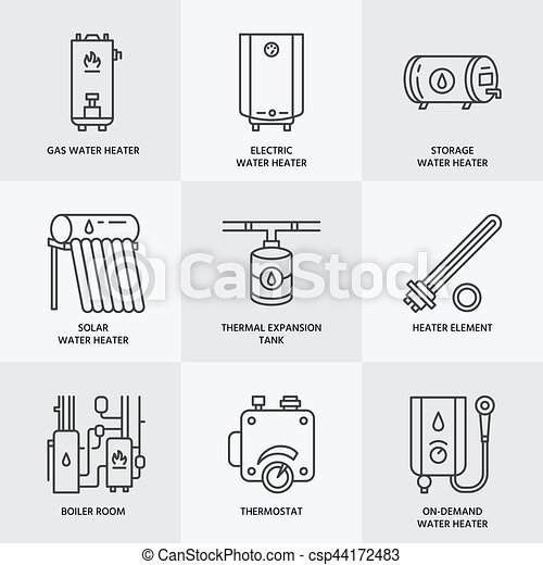 Water heater, boiler, electric, gas, solar heaters and other house ...