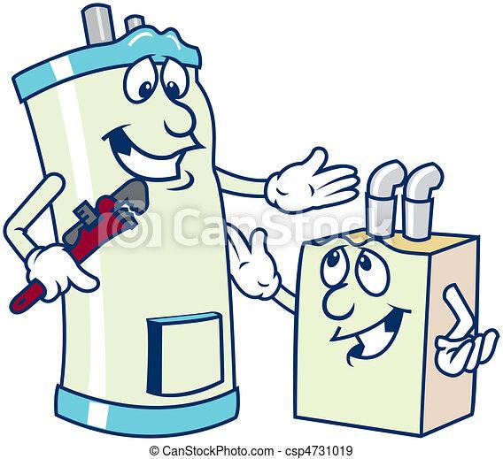 water heater cartoons - csp4731019