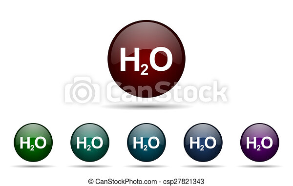 water icon h2o sign - csp27821343