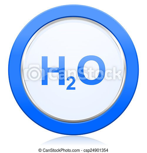water icon h2o sign - csp24901354