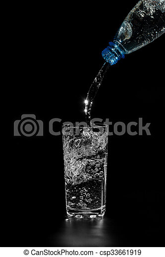 water is poured from a bottle - csp33661919