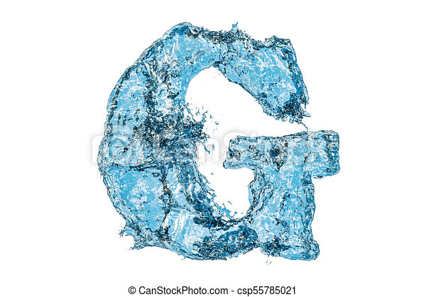 Water letter g 3d rendering isolated on white background water letter g 3d rendering csp55785021 altavistaventures Images