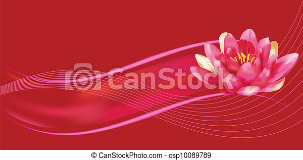 Water lily background - csp10089789