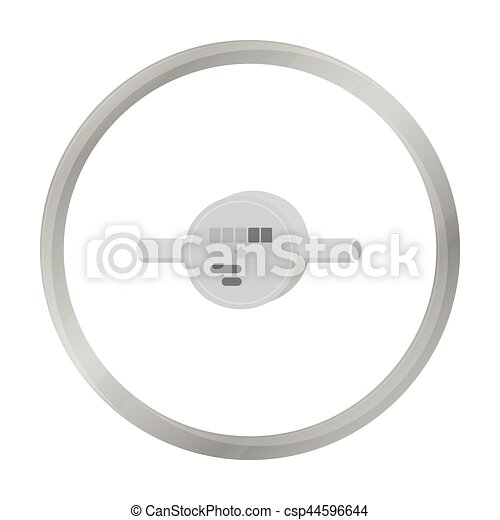 Water meter icon in monochrome style isolated on white background ...