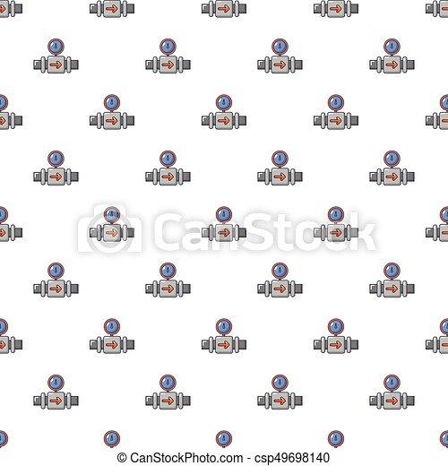 Water meter pipe pattern seamless - csp49698140