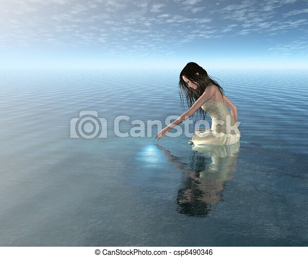 Water Nymph Reflection - csp6490346