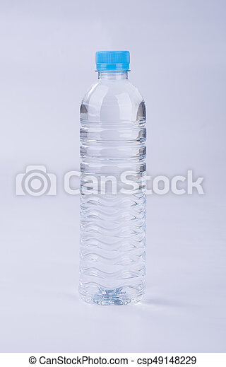 Water or Bottle of Water on a background. - csp49148229