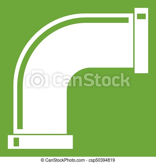 Water pipe icon green - csp50394819